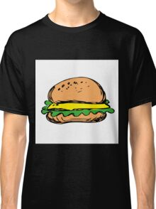 cheeseburger with onion lettuce Classic T-Shirt