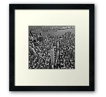 Los Angeles Background Framed Print