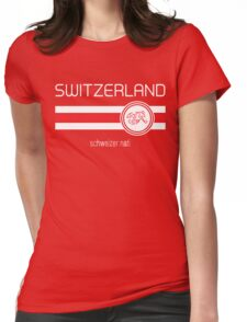 Euro 2016 Football - Switzerland (Home Red) Womens Fitted T-Shirt