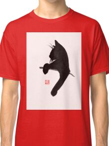 cat is waiting Classic T-Shirt