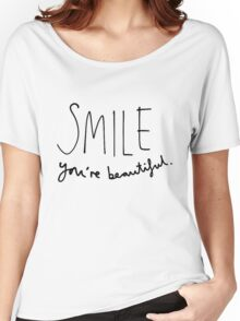 Smile, You're Beautiful Women's Relaxed Fit T-Shirt