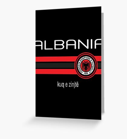 Euro 2016 Football - Albania (Away Black) Greeting Card