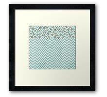 Cute Heart Wavy Background Framed Print