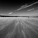 Bamburgh Beach Sand Blast by Stormswept