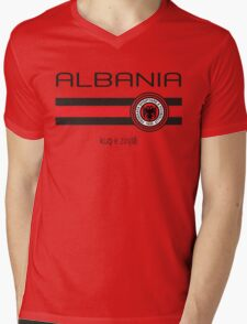 Euro 2016 Football - Albania (Home Red) Mens V-Neck T-Shirt