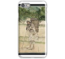British School 18th century  Title Indian Coolie, Carrying a Basket iPhone Case/Skin