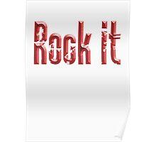 ROCK, Rock music, Rock it, Red, Rock & Roll, Rock Music, Rock band, Rockers Poster