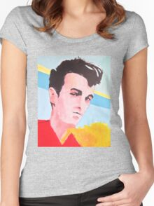 Steven Patrick Morrissey - The Smiths - Original Painting Women's Fitted Scoop T-Shirt