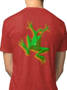 FROG, GREEN FROG, Cartoon, Jumping Jehoshaphat! Help! its the Green frog! Pond life Tri-blend T-Shirt