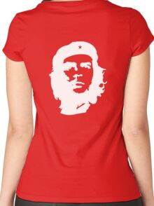 Che, Guevara, Rebel, Cuba, Peoples Revolution, Freedom, in white Women's Fitted Scoop T-Shirt