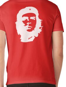Che, Guevara, Rebel, Cuba, Peoples Revolution, Freedom, in white Mens V-Neck T-Shirt