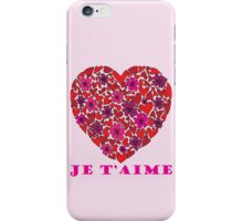 Je T'aime Valentine iPhone Case/Skin
