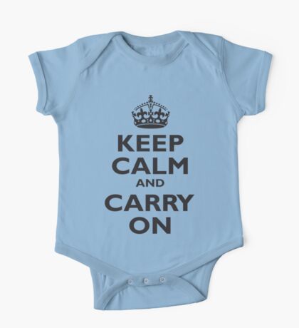 KEEP CALM, Keep Calm & Carry On, Be British! Blighty, UK, United Kingdom, Black on white One Piece - Short Sleeve