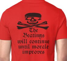 Pirate, Morale, Skull & Crossbones, Jolly Roger, Buccaneers, Me Harties! Unisex T-Shirt