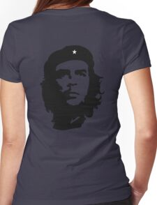 Che, Guevara, Rebel, Revolution, Marxist, Revolutionary, Cuba, Power to the people! Black on Red Womens Fitted T-Shirt