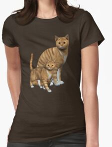 Ginger Tabbies  Womens Fitted T-Shirt