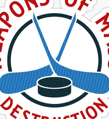 Hockey Weapons of Mass Destruction  Sticker
