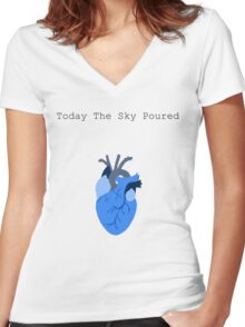 Today The Sky Poured Women's Fitted V-Neck T-Shirt