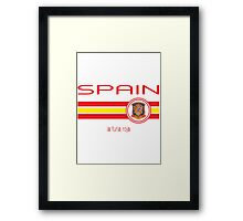 Euro 2016 Football - Spain (Away White) Framed Print