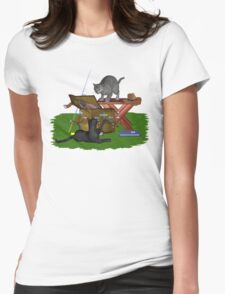 Cats a Fishing Womens Fitted T-Shirt