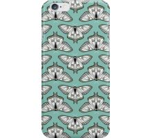 Luna Moth // botanical nature woodland butterfly moth andrea lauren  iPhone Case/Skin