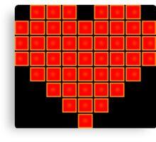 Pixel Heart 8-Bit Canvas Print