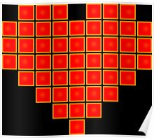 Pixel Heart 8-Bit Poster