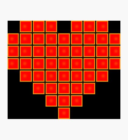 Pixel Heart 8-Bit Photographic Print