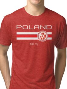Euro 2016 Football - Poland (Away Red) Tri-blend T-Shirt
