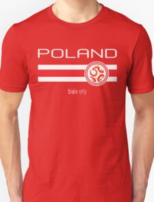 Euro 2016 Football - Poland (Away Red) Unisex T-Shirt