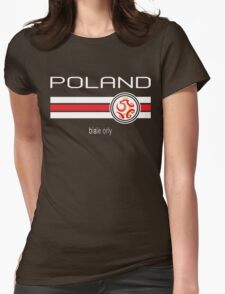 Euro 2016 Football - Poland (Away Red) Womens Fitted T-Shirt