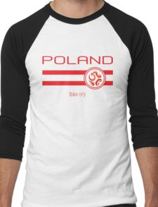 Euro 2016 Football - Poland (Home White) Men's Baseball ¾ T-Shirt