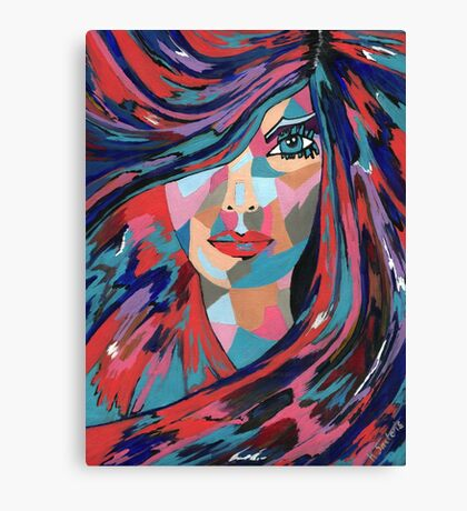 Psychedelic Jane Canvas Print