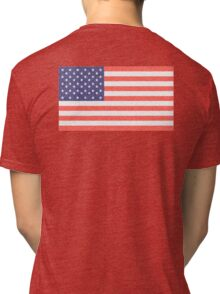 AMERICAN FLAG, FADED, AMERICA, USA, STARS & STRIPES, PURE & SIMPLE Tri-blend T-Shirt