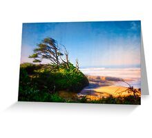 Yachats Oregon 804 Trail - Designed By Wind  Greeting Card