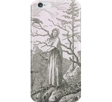 CASPAR DAVID FRIEDRICH,  WOMAN WITH A RAVEN, ON THE EDGE OF A PRECIPICE iPhone Case/Skin
