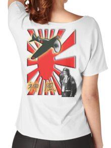 WAR PLANE, ZERO, JAPAN, Kamikazi, Zero Pilot, Japanese, World War Two, WWII, Women's Relaxed Fit T-Shirt