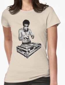 Dj I love Womens Fitted T-Shirt