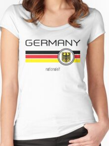 Euro 2016 Football - Germany (Home White) Women's Fitted Scoop T-Shirt