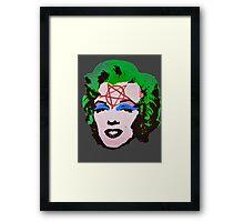Happy Marylin Framed Print