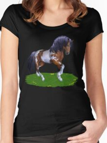 Wild Mustang  Women's Fitted Scoop T-Shirt