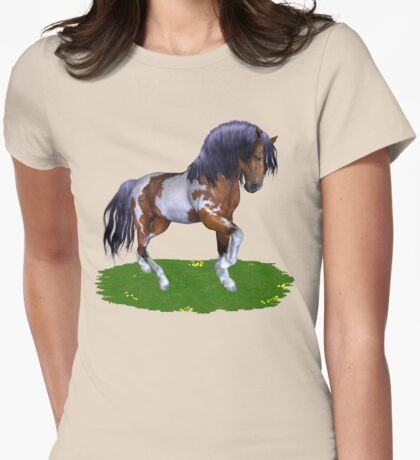 Wild Mustang  Womens Fitted T-Shirt