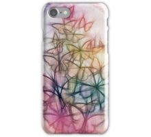 Rainbow Colored Butterfly Sketch Drawing iPhone Case/Skin