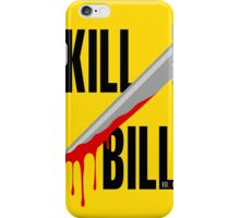 Kill Bill film poster iPhone Case/Skin