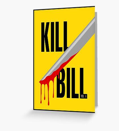 Kill Bill film poster Greeting Card