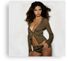 Adriana Lima - Oil Paint Art Canvas Print