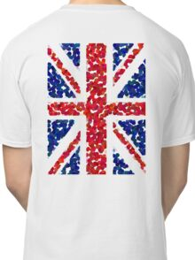 Union Jack, BLING, Pointillize, Cool Britannia, Blighty, UK, GB, Flag, BRITISH, BRITAIN, Classic T-Shirt