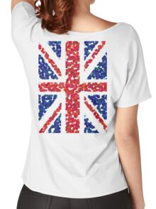 Union Jack, BLING, Pointillize, Cool Britannia, Blighty, UK, GB, Flag, BRITISH, BRITAIN, Women's Relaxed Fit T-Shirt