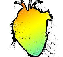 rainbow anatomical heart by chromatosis