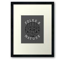 Folks nature Framed Print